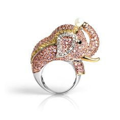 Elephant ring with pearl