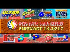 PCSO LOTTO RESULTS FEBRUARY 14, 2017 (EZ2, SWERTRES, 6D, 6/42, 6/49 & 6/58) Lotto Results, Oita, Positive Affirmations, Pop Tarts, Work On Yourself, Youtube, February 3, Youtubers, Youtube Movies