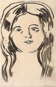 """Mossepiken """"The Girl from Moss"""" (1900–10) Edvard Munch"""