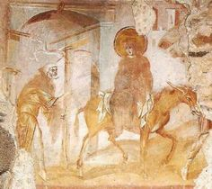 Hotel Ungheria guides you to discover cultural pearls of Varese: here's Santa Maria Foris Portas at Castelseprio, with its frescos from the apocryphal Gospels Early Christian, Christian Art, Tempera, Santa Maria, Fresco, Gothic Artwork, Carolingian, Life Of Christ, Sacred Architecture
