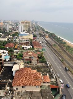 Looking south towards the area from Colombo.