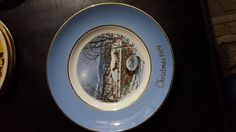 1979 Wedgwood 7th Edition Christmas Plate Series DASHING THROUGH THE SNOW
