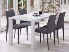 直線で構成され、シンプルかつモダンなイメージのボルドーダイニングテーブル。グロッシーホワイトは鏡面仕上げの天板が美しく清潔感があります。キズや汚れに強いウレタン塗装で仕上げています。
