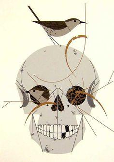 Charlie Harper skulls & birds!