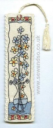 Buy Flowers in Glass Vase Bookmark Cross Stitch Kit online at sewandso.co.uk
