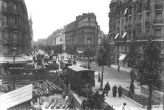 Boulevard Raspail, en 1913.