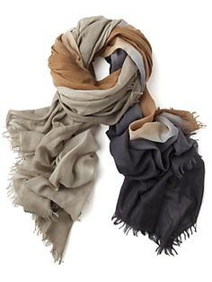 bajra | ombre wool scarf in brown (intermix exclusive)