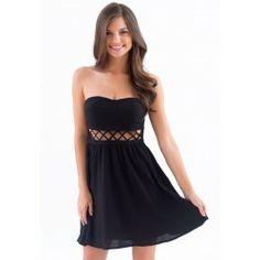 Talk The Talk Dress-Black - $44.00