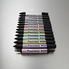 Letraset Pro Marker 12 Set 1 Assorted Colours