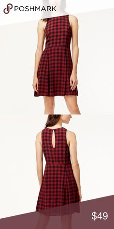 """NWT Sanctuary Red Paid Dress NWT Sanctuary Sleeveless Red Plaid Dress featuring a key hole back closure and hidden side zipper. Fully lined. Measures pit to pit 18""""/ waist 15""""/ length 36"""". Made of viscose/ Rayon blend. Sanctuary Dresses"""