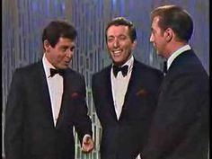 """ANDY WILLIAMS WITH EDDIE FISHER AND BOBBY DARIN. Un trio quasi comique chantant une version très personnelle de """"DO RE MI"""" qui pourrait donner des leçons de spectacle à certains..."""