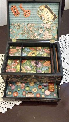 Arte com Encanto by Vastí Fernandes: Caixa de Bijuterias em Scrap décor
