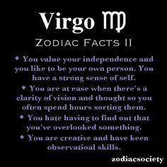 Virgo Zodiac Facts: