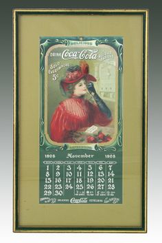 Coke Calendars | 1908 Coca Cola Calendar