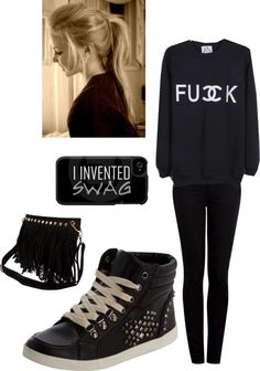 """Swag.."" by katuudabelieber ❤ liked on Polyvore"