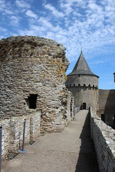 Tours du château de Suscinio sur la presqu'île de Rhuys. Morbihan.