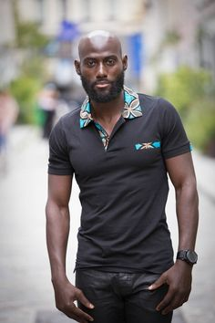 Polo Europe Zuri Polo man ethnic and chic Ankara African wax African Shirts For Men, African Attire For Men, African Clothing For Men, African Print Fashion, Africa Fashion, African Wear, Afro, Style Africain, Camisa Polo