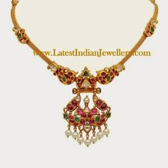 Traditional Designer Gold Ruby Necklace