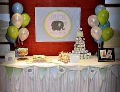table layout for first birthday