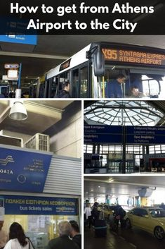 How to get from Athens Airport to the city center by bus, metro, and taxi.