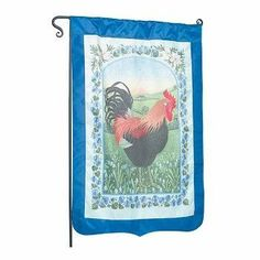 """#Flag Blue Nylon #Rooster 29"""" X 43"""" No Pole # 21536 Shop --> http://www.rensup.com/Flags/Flags-Blue-Nylon-Flag-Rooster-29-x-43-feet-no-pole/pd/21536.htm?CFID=1662069&CFTOKEN=8c758c5d1f381484-C10B0AE3-F968-AB58-EEF94F22EA157495"""