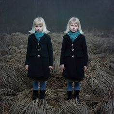 twins...Children of the Corn?  Creepy.