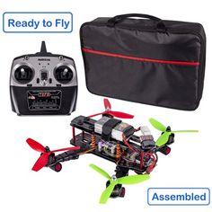 SunFounder 250 FPV Quadcopter Drone Frame Kit CC3D Controller EMAX ESC Simon 12A Motor MT2204 2300KV 11.1V Li-po Battery Glass Fiber Racing Flying 4-Axis Copter for Lumenier QAV250 ZMR250 (Assembled)