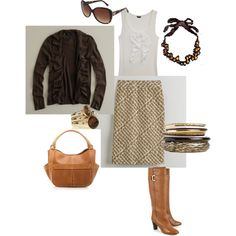 Year round neutral, created by #aldowney on #polyvore. #fashion #style J.Crew Ann Taylor