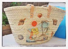 Monica Gars Capazo de palma/ Wicker beach basket/ www.monicagars.com