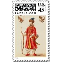 Marco Polo dressed in Tartar costume Postage by bridgemanart