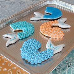 Pirates of the Caribbean Mermaid Tail Cookies   Disney Family