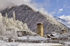 White Svaneti. #Georgia #travel #winter #snow
