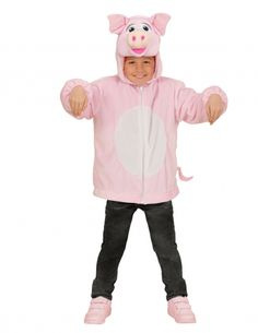 Chaqueta capucha cerdo niño