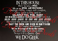 We Do Geek Vinyl wall decal by DeckItOutDecals & In This House.... We Do Percy Jackson Vinyl wall decal ....E00243 ...