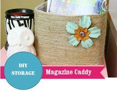 DIY Storage: Magazine Caddy