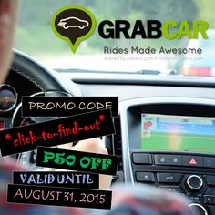 The new promo code starting today until August 31, 2015 gives recognition to the more than 1,000 GrabCar operators that have received accreditation from the Land Transportation Franchising & Regulatory Board or LTFRB. Click to find out.