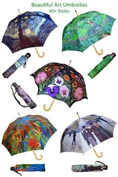 403dec3ab Over 40 pretty art umbrellas are in our fine art umbrella collection in  both automatic stick