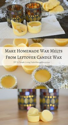 Diy Candles Ideas & Wax melts Waste not, want not. Don't throw away the very last of your candle's wax…turn it into DIY wax melts using muffin wrappers Candle Craft, Candle Wax, Candle Melts, Diy Wax Melts, Old Candles, Homemade Candles, Candlemaking, Diy Headboards, Valentines Diy