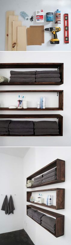Check out this easy DIY shelf. Click on image to see more DIY ideas for your home.
