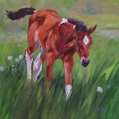 Horse Art: Lyn St. Clair :: Work :: Visions West Gallery