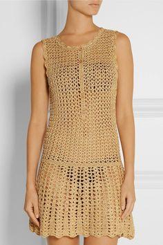 vestido de verano crochet en hilo de oro