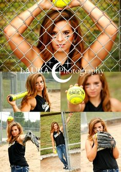 Adalie by Laura C Photography 2013 Softball senior pictures by aurelia Senior Softball, Softball Senior Pictures, Senior Photos Girls, Girls Softball, Senior Girls, Softball Stuff, Softball Players, Softball Things, Volleyball Drills