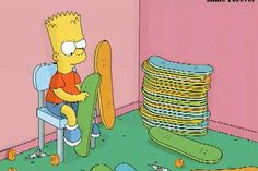 For many of us, Bart Simpson will have been the first skater we've seen. Simpson Wave, Bart Simpson, Funny Animal Pictures, Funny Animals, The Simpsons Show, Skateboard Decks, Surfing, Entertaining, Illustration