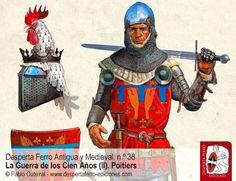 Jean de Clermont, señor de Chantilly y Beaumont, mariscal de Francia ilustración de Pablo Outeiral