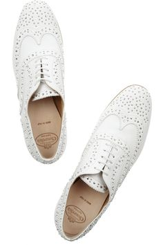 church's;  i think every woman should have a pair of white brogues.