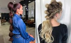 10 ways to vary a Ponytail hairstyle - Weave hair, Clip-in hair extensions, 100% human remy hair Night Out Hairstyles, Cute Ponytail Hairstyles, Fun Ponytails, Short Ponytail, Bubble Ponytail, Half Ponytail, Sleek Ponytail, Great Hairstyles, Different Hairstyles