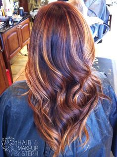 auburn hair caramel balayage - Google Search
