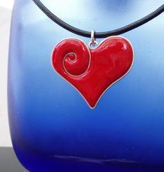 polymer clay heart con alambre