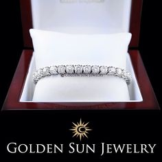 GOLDEN SUN JEWELRY: 14 carat diamond bracelet. Simple. Stunning. Gorgeous. #bracelet #bride2bride #ups #shipit #detroit #stunning #jewelry #lavish #luxury #l4p #fashion #diamondpiece #presents #christmaspresents #tennisbracelet #wristwear #xmas #diamondbracelet