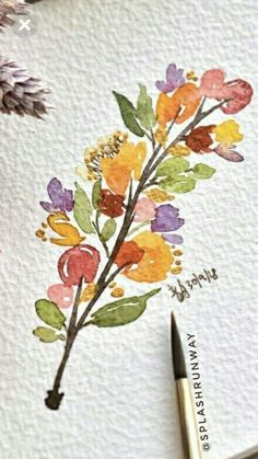 Watercolor Beginner, Watercolor Sketch, Watercolor Cards, Watercolor And Ink, Watercolor Illustration, Watercolor Flowers, Watercolor Painting Techniques, Watercolor Projects, Watercolour Painting
